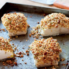 Baked Fish with Almonds, Lemon and Bread Crumbs