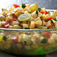 Moroccan Zucchini, Grape, and Bell Pepper Salad Recipe