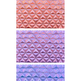 Change by Robert Klein - Abstract Patterns ( blue pink purple abstract pattern triptych )