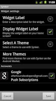Screenshot of Synker Widget Unlock Key