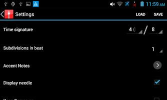 Screenshot of Visual Metronome