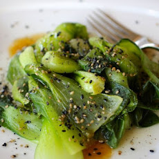 Baby Bok Choy with Sesame-Maple Sauce