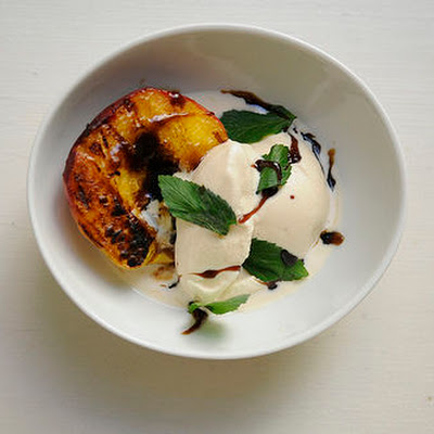 Grilled Mint Julep Peaches