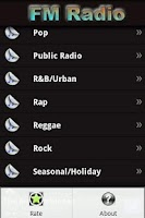 Screenshot of Music Radio