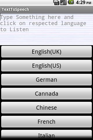 Text to Speech Convertor