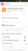 Screenshot of Pushpay