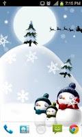 Screenshot of Snowman Live Wallpaper