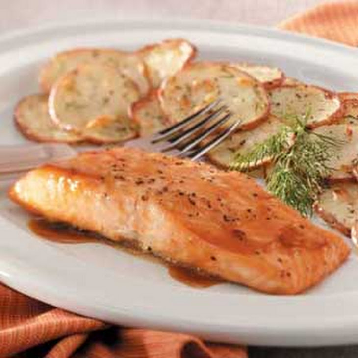 salmon with brown sugar and mustard glaze recipe � dishmaps