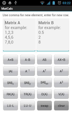 MatCalc - Matrix Calculator
