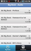 Screenshot of Big Book - Audio