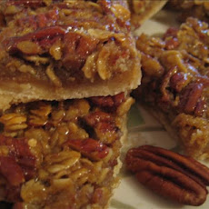 Reduced-Fat Pecan-Oat Bars
