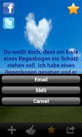 Screenshot of Liebessprüche, Liebesgedichte