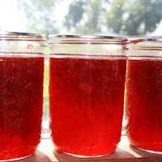 Strawberry Rhubarb Jam (Liquid Certo)
