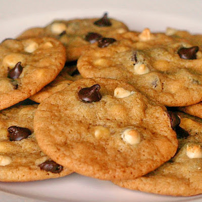 Two Tone Chocolate Chip Cookies