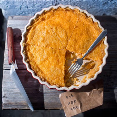 Grapefruit Custard Pie with a Saltine Pie Crust