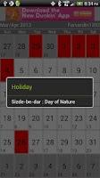 Screenshot of Iranian Calendar