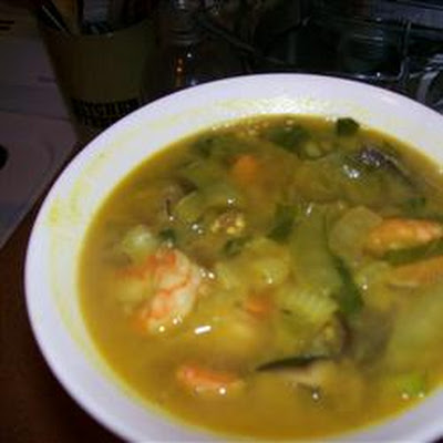 Prawns in Peanut Soup
