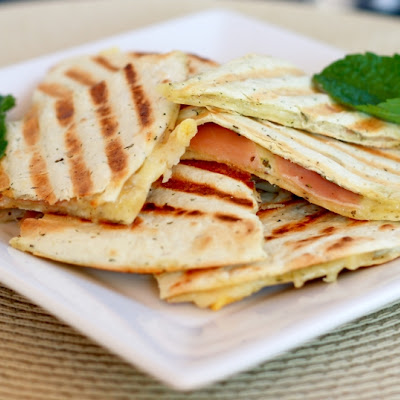 Grilled Golden Gruyere and Prosciutto Tortillas