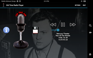 Screenshot of Old Time Radio Player (no ads)