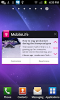 Screenshot of MobileLife with Bonus Apps