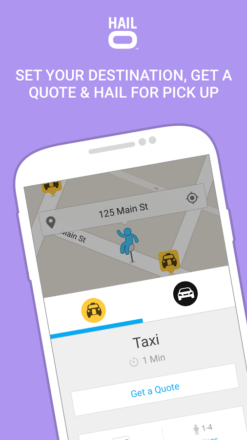 Hailo - The Taxi Booking App Screenshot 1