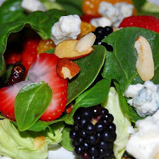 Spinach Salad with Sweet Balsamic and Blood Orange Dressing