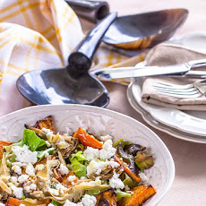 Roasted Pumpkin Salad with Artichoke & Goats Cheese