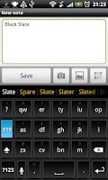 Screenshot of Black Slate - Keyboard Theme