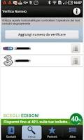 Screenshot of Operatore Contatti