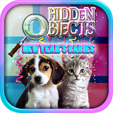 Hidden Object New Years Babies