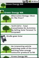 Screenshot of Green Energy WA