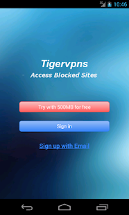 Screenshots  Tigervpns VPN