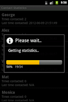 Screenshot of Contact Statistics