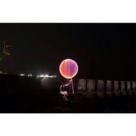 ✌️😅 by Aditya Herlian - Digital Art People ( lightpainting, nightshot, nightphotography, bali, baliphotography, ilovebali )