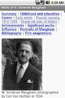 Screenshot of Works of W. Somerset Maugham