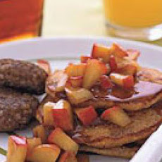 Corn Cakes with Apples and Sausage