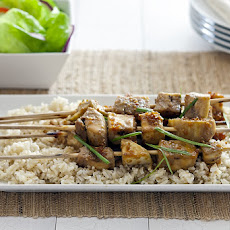 Eggplant Satay with Coconut Teriyaki