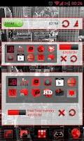 Screenshot of GOWidget Red ICS Light Free