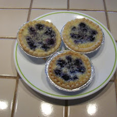 Easiest and Best -Blueberry-Coconut Tarts