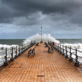 Swanage in a storm by Nick Holland - Landscapes Weather