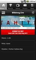 Screenshot of Billabong Live