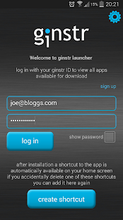 ginstr launcher APK for Bluestacks
