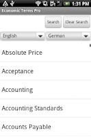 Screenshot of Dictionary of Economic Terms+