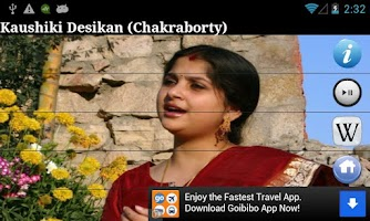 Screenshot of Kaushiki Chakraborty Fan App