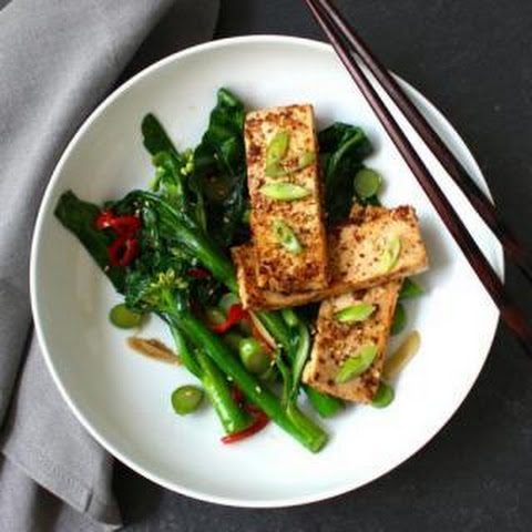 Miso Mustard Tofu & Asian Greens