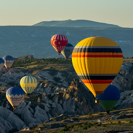 Cappadocia, turkey by Krissanapong Wongsawarng - Landscapes Travel ( nature, sunrise, turkey, balloon, landscape, cappadocia )