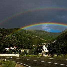 double rainbow by Adriana Kastelan - Novices Only Landscapes