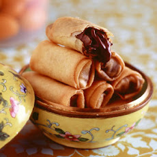 Chocolate Kumquat Spring Rolls