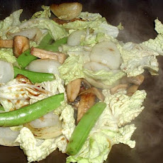 Chinese Cabbage, Snow Pea and Mushroom Stir-Fry