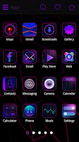 Screenshot of Purple Charm GO Launcher Theme